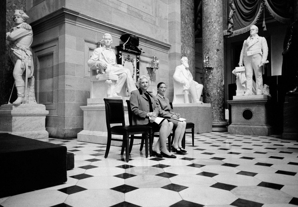 Sandra Day O'Connor and Ruth Bader Ginsburg, First and Second Women to serve as Justices on the U.S. Supreme Court, Statuary Hall in the U.S. Capitol Building, Washington, D.C.