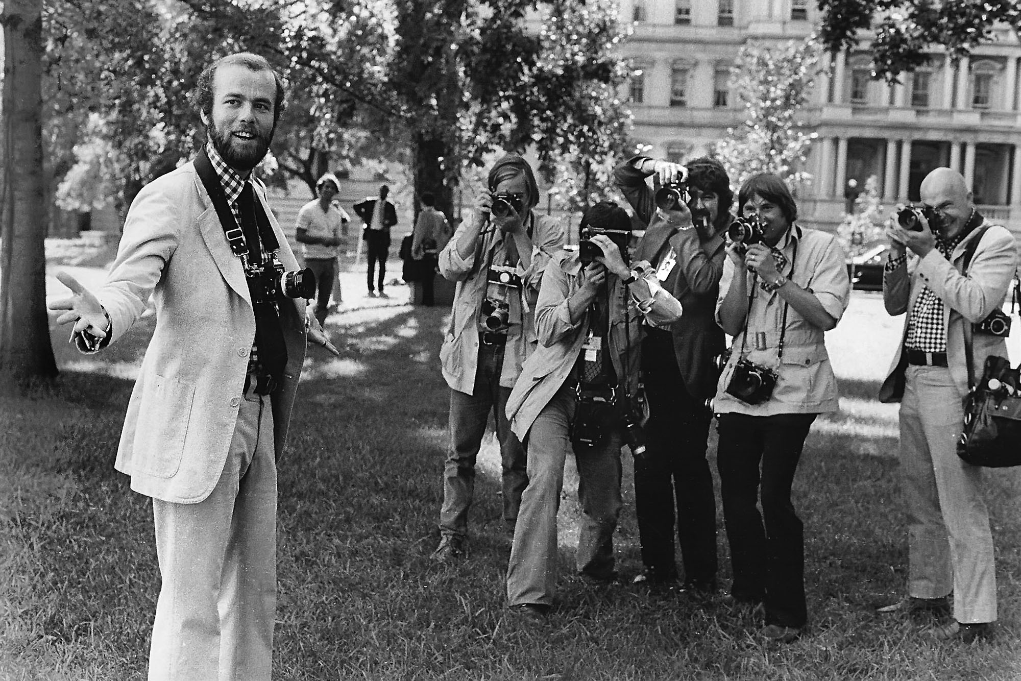 David Hume Kennerly, Photographer, and His Colleagues, White House Lawn, Washington, D.C.