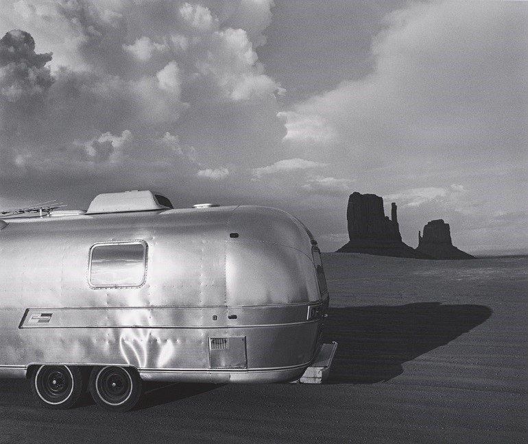 Airstream at Monument Valley, Arizona