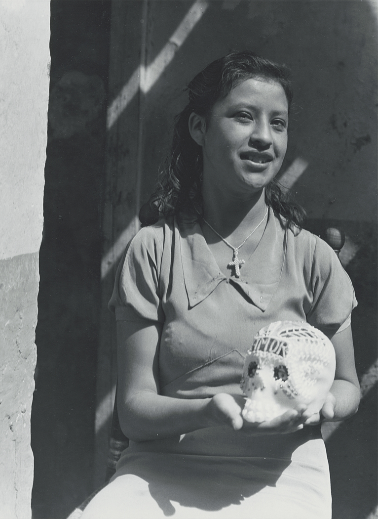 Girl with a candy skull.
