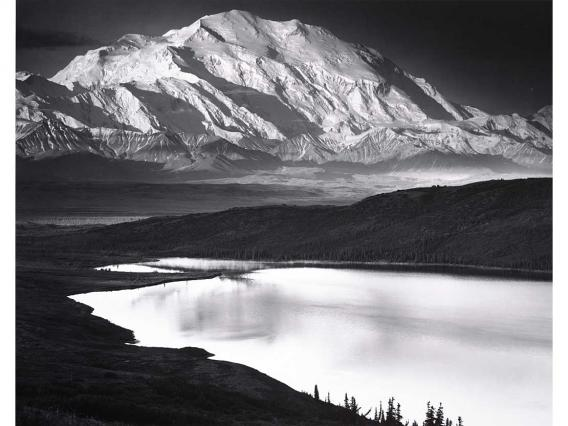 Ansel Adams, Denali and Wonder Lake, Denali National Park, Alaska, 1947, 1948. Ansel Adams Archive/Purchase. © The Ansel Adams Publishing Rights Trust. 78.152.6