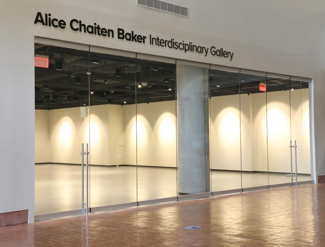 CCP Alice Chaiten Baker Interdisciplinary Gallery, Image of front glass doors