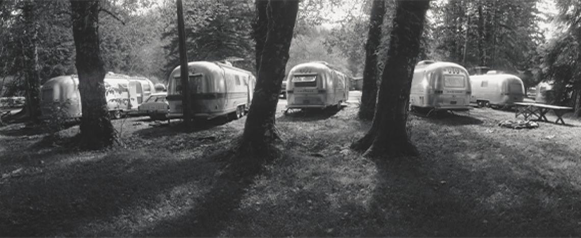 Laura Volkerding, Airstream Trailers, Lake Quinault, Washington, 1978, Laura Volkerding Archive, 96.96.82